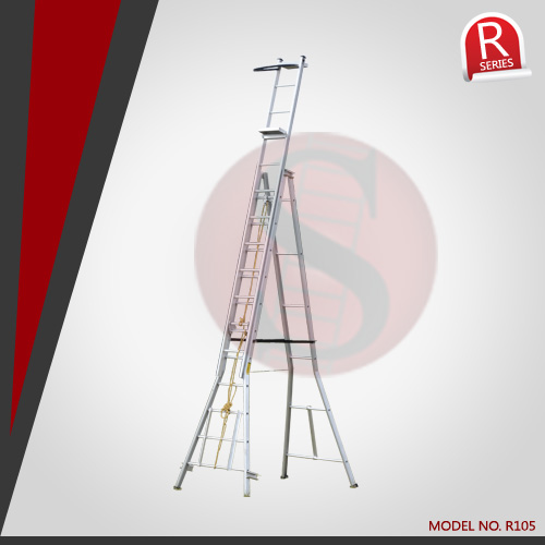 Aluminum Self Supporting Extension Ladders Handrail