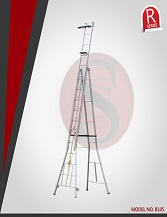 Self supporting extension ladders handrail